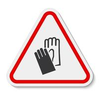 Symbol Wear Hand Protection sign Isolate On White Background,Vector Illustration EPS.10 vector