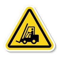 Beware Forklift Symbol Sign Isolate On White Background,Vector Illustration vector