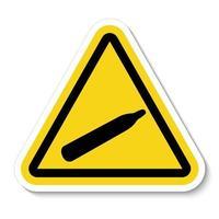 Danger Pressure Gas Symbol Sign Isolate On White Background,Vector Illustration vector