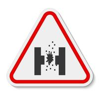 Danger Of Molten Metal Symbol Sign Isolate On White Background,Vector Illustration EPS.10 vector