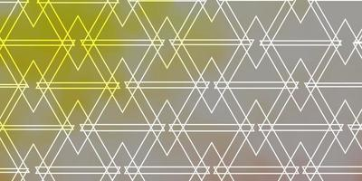 Light Orange vector layout with lines, triangles.