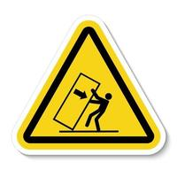 Body Crush Tip over Hazard Symbol Sign Isolate on White Background,Vector Illustration vector