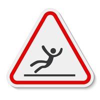 Beware Slippery Surface Symbol Isolate On White Background,Vector Illustration EPS.10 vector