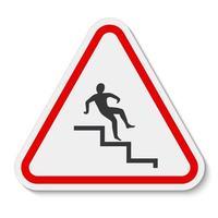 Beware Step Symbol Isolate On White Background,Vector Illustration EPS.10 vector