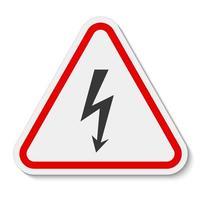Signo de símbolo de alto voltaje de peligro aislado sobre fondo blanco, ilustración vectorial vector