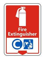 Symbol Fire Extinguisher C Sign on white background vector