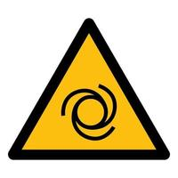 Beware Automatic Start-Up Symbol Sign Isolate On White Background,Vector Illustration EPS.10 vector