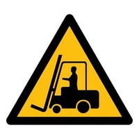 Beware Forklift Symbol Sign Isolate On White Background,Vector Illustration EPS.10 vector