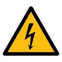 Signo de símbolo de alto voltaje de peligro aislado sobre fondo blanco, ilustración vectorial eps.10 vector