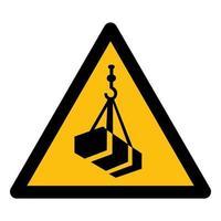 Beware Overhead Load Symbol Isolate On White Background,Vector Illustration EPS.10 vector