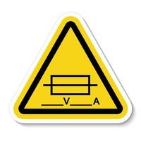 Fuse Writable Symbol Sign Isolate On White Background,Vector Illustration EPS.10 vector