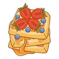 waffles en estilo de diseño plano vector