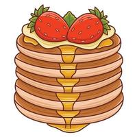 PANCAKES in flat design style vector