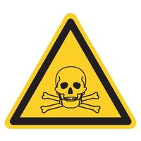 Toxic Material Symbol Sign, Vector Illustration, Isolate On White Background Label .EPS10