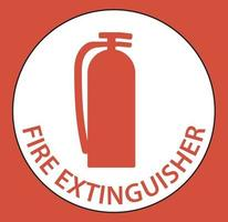 Fire Extinguisher Floor Sign on white background vector