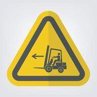 Forklift Point Left Symbol Sign Isolate On White Background,Vector Illustration EPS.10 vector