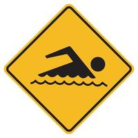 Sign forbidden to swim on white background vector
