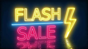 Flash Sale Neon Sign For Promotion With Floor Reflection 4K