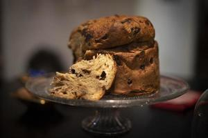 Close-up delicious panettone photo