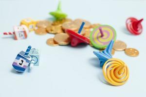 Close-up Hanukkah collection dreidel photo
