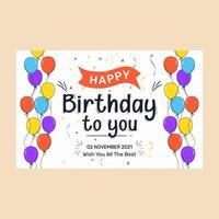 Happy Birthday Banner.  Greeting card vector