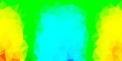 Light blue, yellow vector polygonal background.