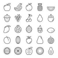 conjunto de iconos de frutas vector