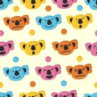cute koala seamless pattern vector