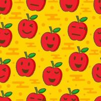 cute apple seamless pattern vector