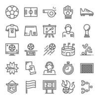 conjunto de iconos de fútbol vector