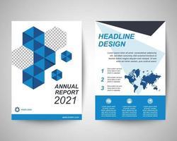 corporate flyer a4 template set vector
