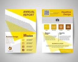 corporate flyer a4 template vector