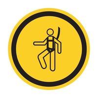 símbolo usar arnés de seguridad signo aislar sobre fondo blanco, ilustración vectorial eps.10 vector