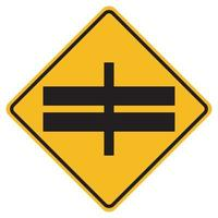 Highway Intersection Ahead Traffic Road Symbol Sign Isolate on White Background,Vector Illustration EPS.10 vector