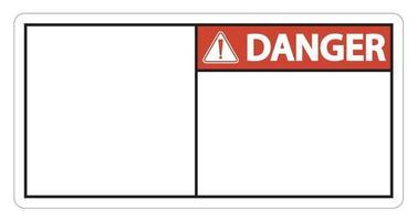 Etiqueta de señal de peligro símbolo sobre fondo blanco. vector