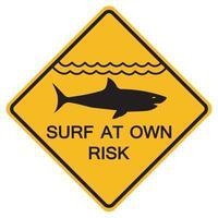Señales de advertencia navegue bajo su propio riesgo sobre fondo blanco. vector