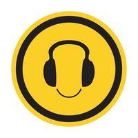 símbolo use protección auditiva signo aislar sobre fondo blanco, ilustración vectorial eps.10 vector