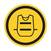 símbolo usar chaleco aislar sobre fondo blanco, ilustración vectorial eps.10 vector