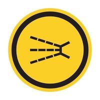 Splashing Hazard Symbol Sign Isolate On White Background,Vector Illustration EPS.10 vector