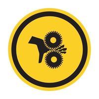 Corte de los dedos, símbolo de las cuchillas giratorias, ilustración vectorial, aislar en la etiqueta de fondo blanco .eps10 vector
