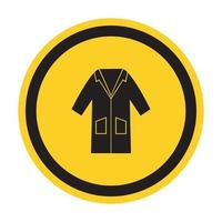PPE Icon.Wear Smock Symbol Sign Isolate On White Background,Vector Illustration EPS.10 vector
