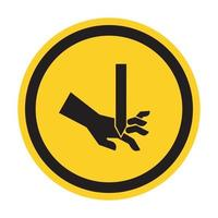 Cutting of Fingers Straight Blade Symbol Sign, Vector Illustration, Isolate On White Background Label .EPS10