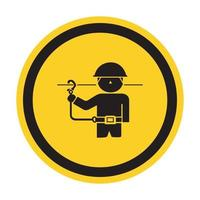 PPE Icon.Use Safety Belts Symbol Sign Isolate On White Background,Vector Illustration EPS.10 vector