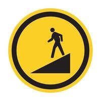 Beware Slope Symbol Sign Isolate On White Background,Vector Illustration EPS.10 vector