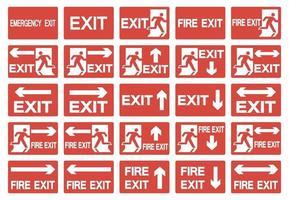 Emergency Exit Symbol Isolate On White Background,Vector Illustration EPS.10 vector