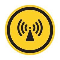 Beware Non-Ionizing Radiation Symbol sign Isolate On White Background,Vector Illustration vector