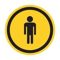 Prohibir a las personas permitidas, no entrar, ninguna señal de entrada de hombre aislar sobre fondo blanco, ilustración vectorial vector