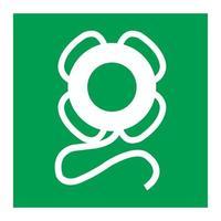 Emergency Lifebuoy Symbol Sign Isolate On White Background,Vector Illustration EPS.10 vector