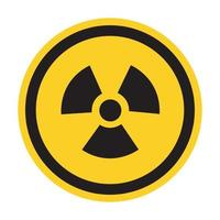 Radiation Hazard Symbol Sign Isolate On White Background,Vector Illustration EPS.10 vector