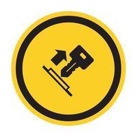 Tire del símbolo de la llave signo aislar sobre fondo blanco, ilustración vectorial eps.10 vector
